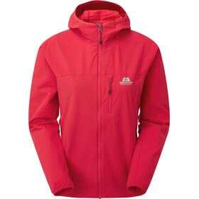 Mountain Equipment Echo Chaqueta Capucha Mujer, capsicum red